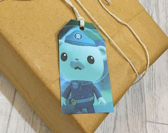 Octonauts Gift Tags Labels Upcycled Book Page Handmade Recycled Birthday Wedding Baby Shower