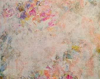 Springtime Fantasy I, hand painted abstract canvas, abstract art, painting for the home, abstract flower art