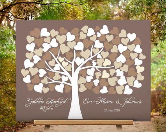 Geschenke Zur Goldenen Hochzeit Silberhochzeit Jubiläum 50 Jahre 25 Jahre Hochzeitsgeschenk Wedding Tree Hochzeitsbaum Hochzeitsgeschenk
