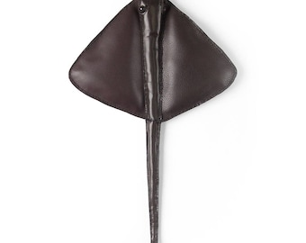 """Leather handmade Sting Ray approx 19"""" 48cm"""