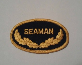 Seaman US Navy Yacht Military Embroidered Old School Patch - Vintage