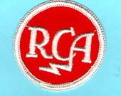 RCA Victor Radio Corp of America Original Logo Embroidered Old School Patch - Vintage