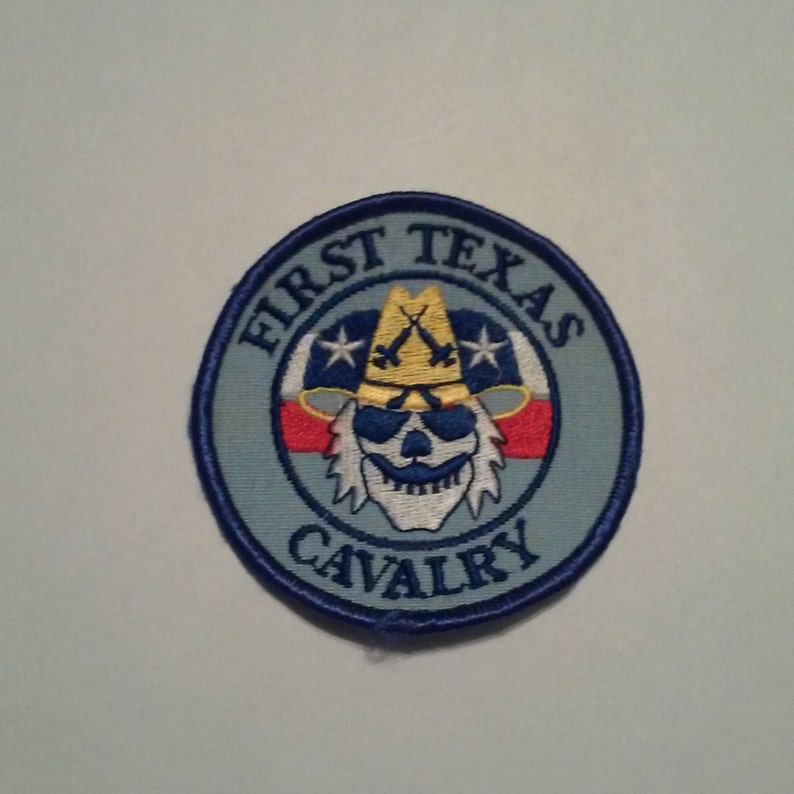 Texas First Cavalry Military Biker Collector Patch Old School Patch -  Vintage