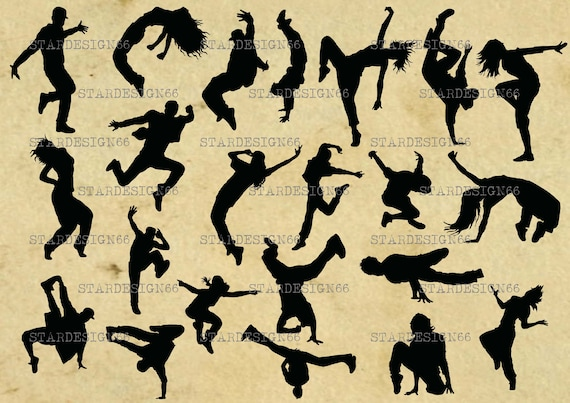 Digital Svg Png Jpg Breakdancers Hip Hop Dancers Women Men Etsy
