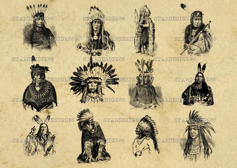 Digital SVG PNG JPG native american indian headdress head   Etsy