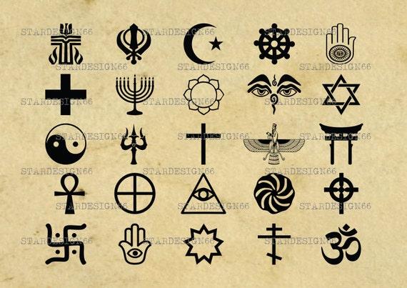 Digital Svg Png Religion Icons Judaism Buddhism Jainism Etsy