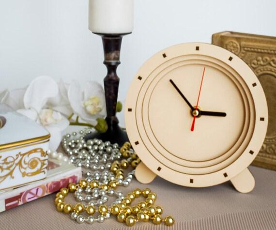 Hdf beige horloges fait à la main cadeau élégant vivant chambre