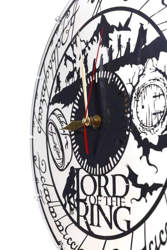 Lord Of The Rings Acrylic Clock Laser Cutting Wall Clocks Etsy