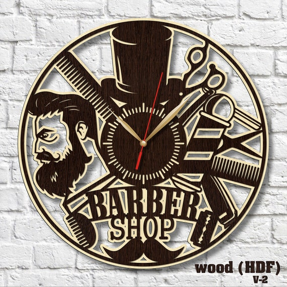 Shop Clocks Man Shop Decor Hdf Clock Cool Clock Art Gift For Etsy
