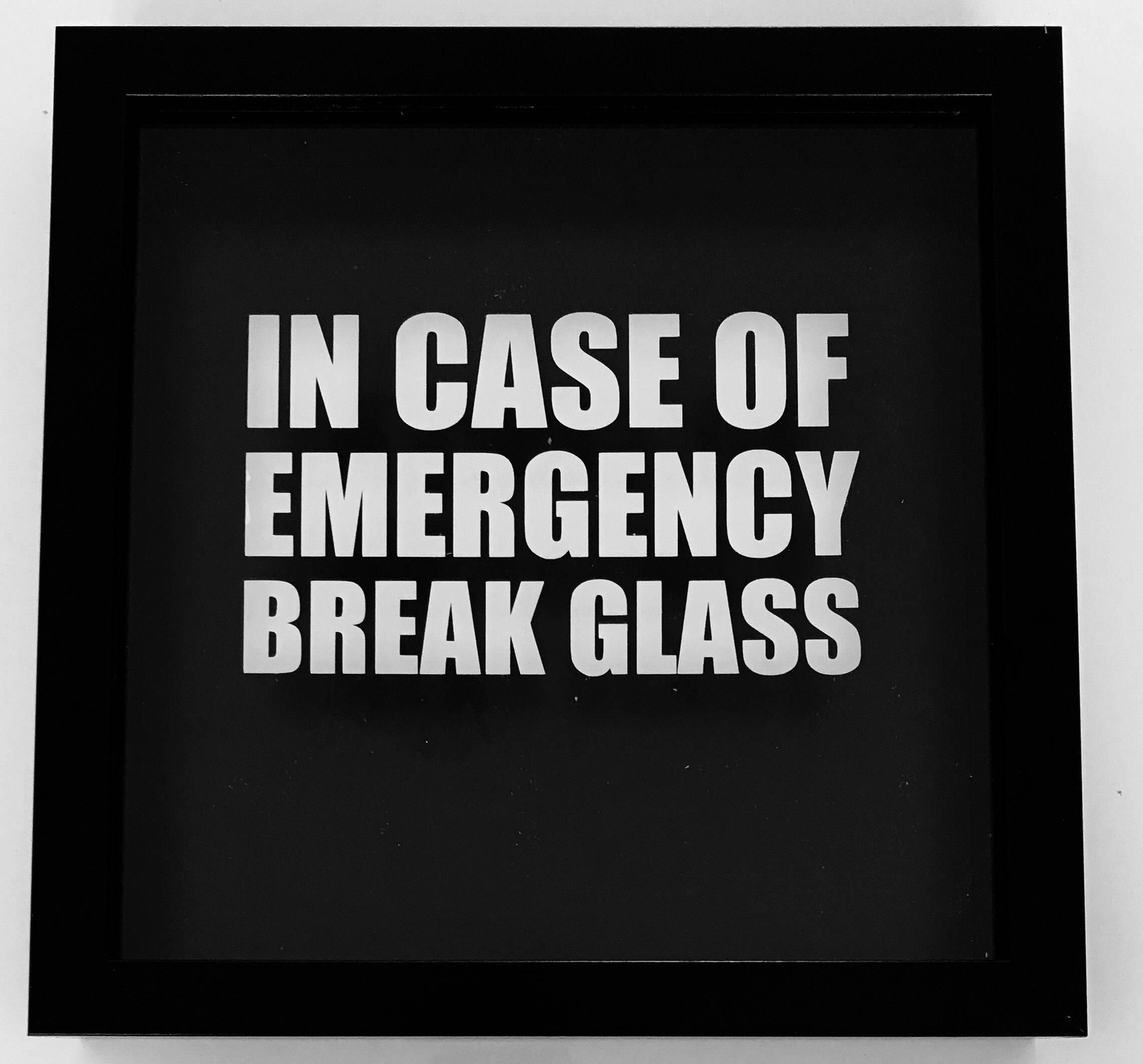 Bei Notfall-Pause-Glas versorgt mit alles Neuheitgeschenk