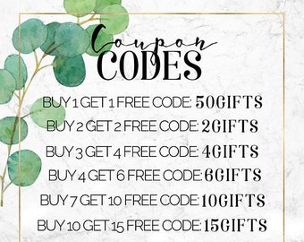 COUPON CODES apply at checkout ***do not buy this listing***