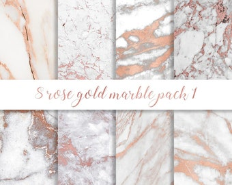 Rose Gold Marble Etsy