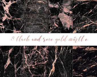 Black And Gold Marble Digital Paper Gold Marble Digital Etsy