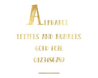Gold foil font | Etsy