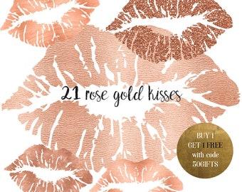 rose gold clip etsy