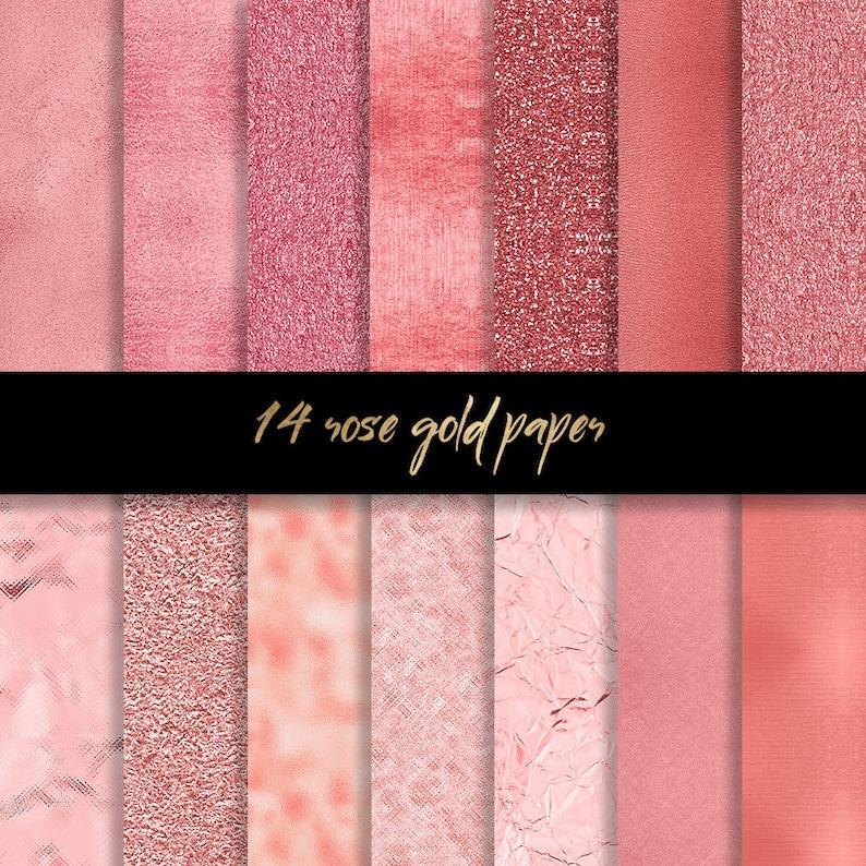 Carta Digitale Oro Rosa Oro Rose Sfondi Rosa Glitter Oro Etsy