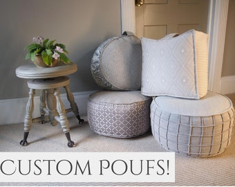 Pouf, Pouf Ottoman, Ottoman, Floor Cushion, Floor Pillow, Poufs, Pouffe,  Floor Pouf, Floor Pillows, Floor Seating, Large Pouf, Small Pouf,