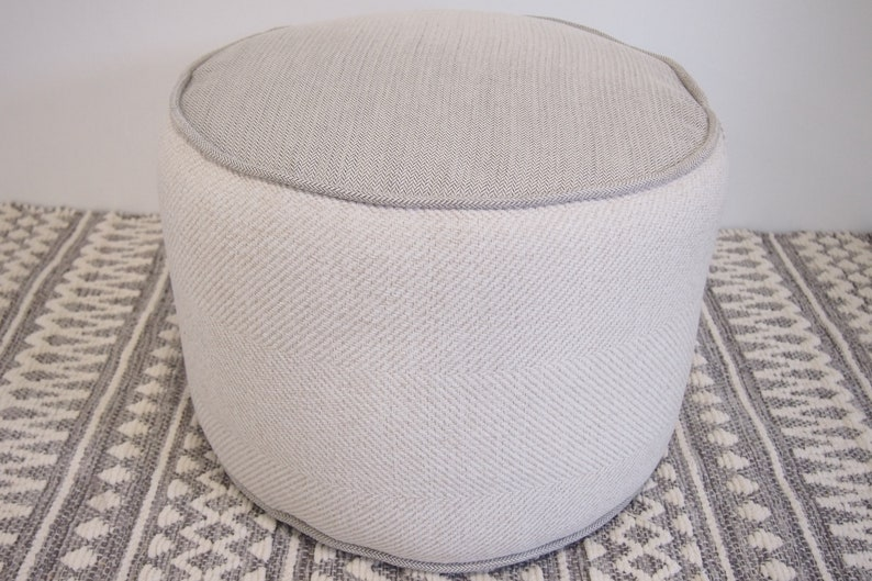 Large Round Floor Cushion Round Floor Pillow Pouf Ottoman Pouffe Bean Bag Chair Floor Seating Custom Floor Cushion Organic Spelt Husk