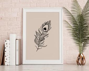 Art Print» Peacock Feather «
