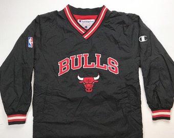 03ad51954652 Chicago Bulls Vintage Champion jacket   Reversible Chicago Bulls Jersey    jacket