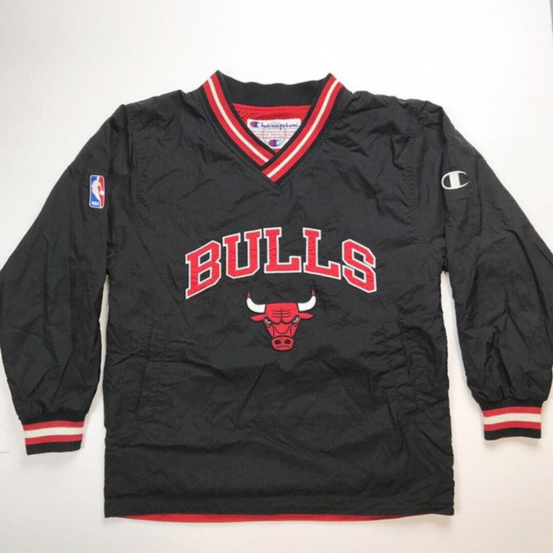 new styles e65a0 dcd7b Chicago Bulls Vintage Champion jacket / Reversible Chicago Bulls Jersey /  jacket