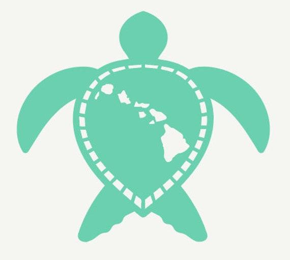 Hawaiian Turtle Car Decal Hawaiian Islands On The Etsy