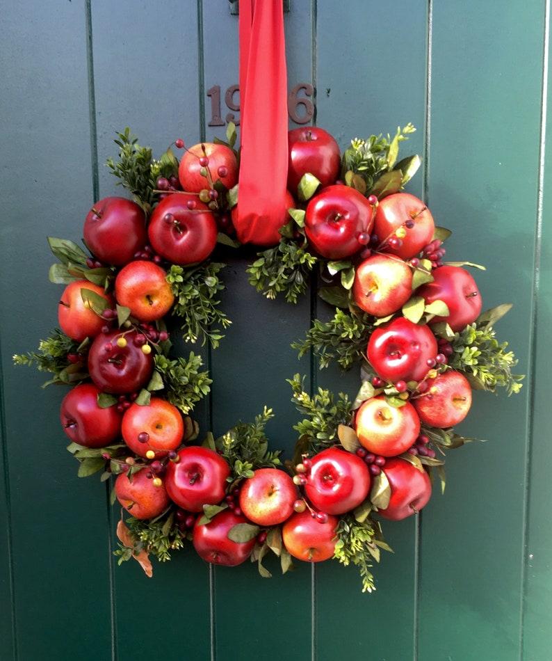 Festive Apple Wreath