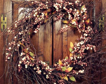 Brown Berry Twig Wreath