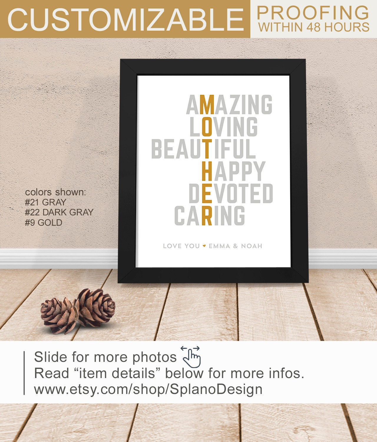 Mothers Day Ideas Mum Birthday Gift Mom Art Print Gifts For