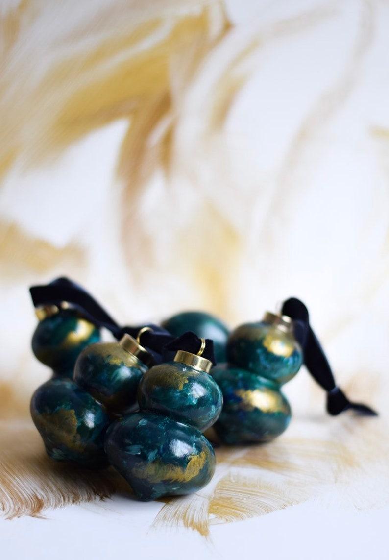 Hand Painted Christmas Ornaments PEACOCK LANE