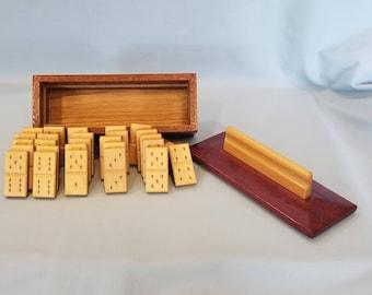 Leopard Wood Domino Game Box