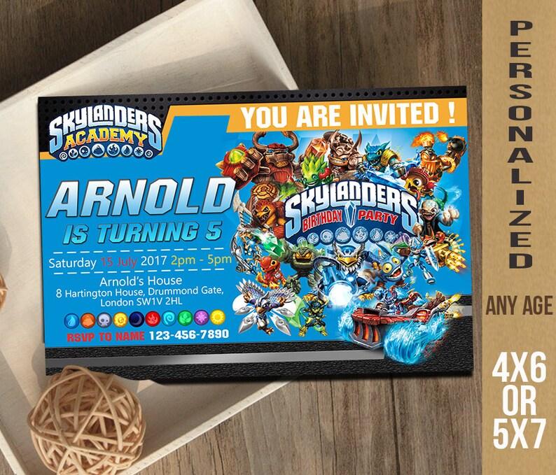 Skylanders Invitation Birthday Invite
