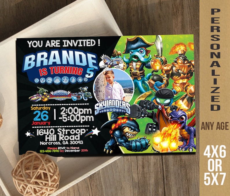 Skylanders Invitation Birthday Invite