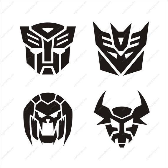 transformers svg transformer clipart ai dxf eps cut files svg rh etsy com transformer image en clipart transformer clipart black and white