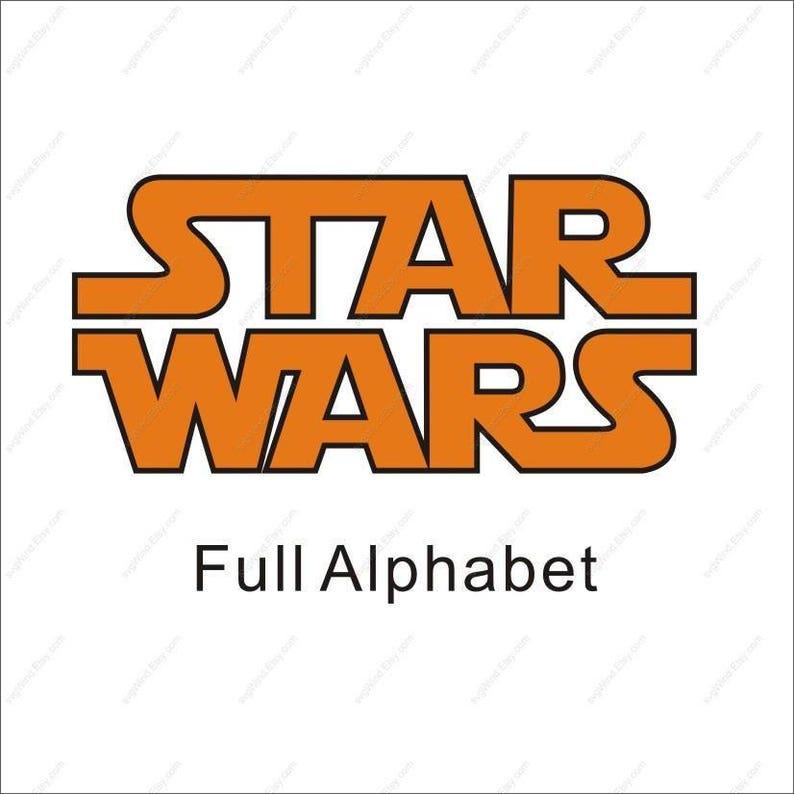 star wars svg, starwars svg, star wars font svg, star wars alphabet svg,  star wars svg files