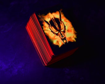 Lucifer's Tarot - Special Edition (RED). Set of 105 Tarot Cards. A Tarot Card Deck of Exceptional Quality