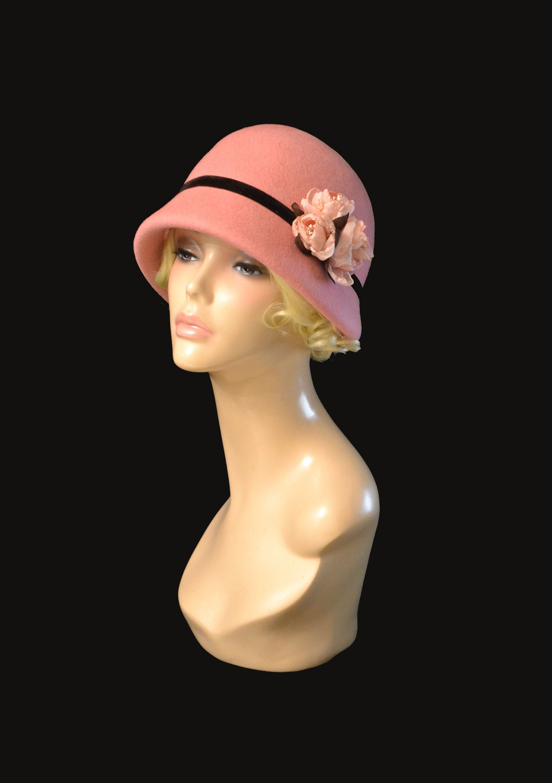 handmade Vintage style spring garden elegant cloche hat new