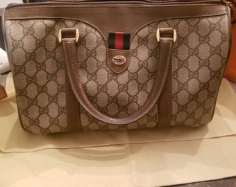 a83e4f578568 Amazing Vintage Gucci Speedy Boston Bag - Top Handle !
