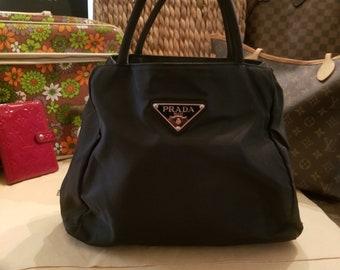 782577bad3 Autentico Prada Top maniglia borsa-classico vintage nero