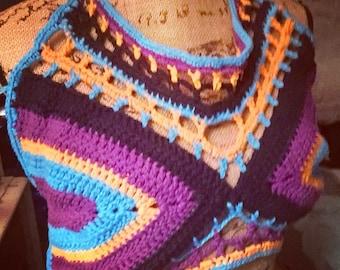 Colorful Open Back Halter or Bikini top