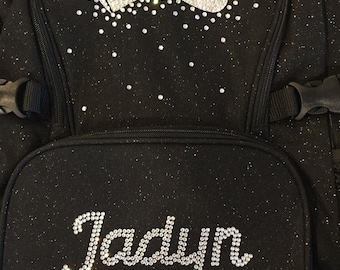 Customized 5-6 letter name Glitter Nfinity Backpack