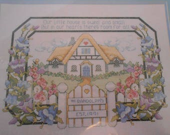 Bucilla Counted Cross-Stitch Our Little House Kit