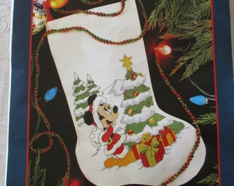 disney christmas stocking kit minnie mouse christmas stocking kit christmas tree stocking kit minnie mouse with presents around the tree