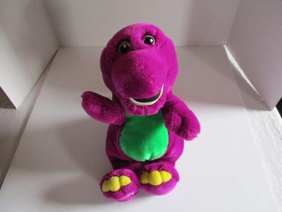 Barney Plush Barney Stuffed Animal Vintage Barney 1992 Etsy