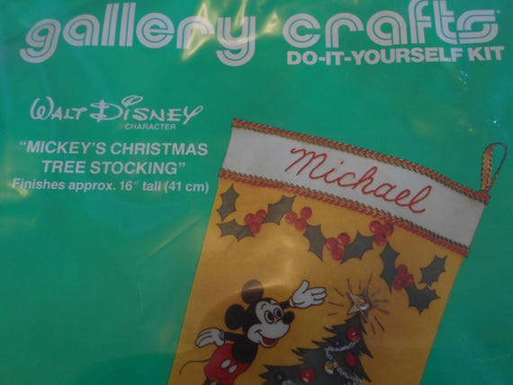 disneys mickey mouse christmas stocking kit mickey mouse christmas stocking kit vintage mickeys stocking kit with christmas tree decor