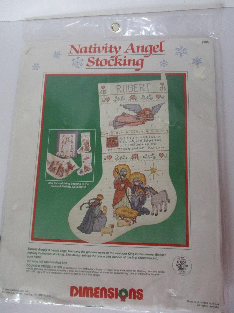 Nativity Angel Stocking Angel Stocking Kit Cross Stitch Christmas Stocking Kit Dimensions Christmas Stocking Kit Nativity Stocking Kit