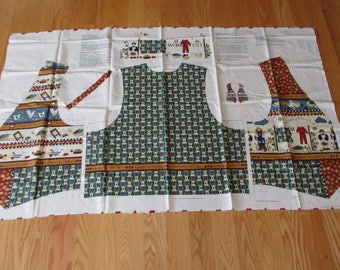 "Fabric Panel Adult Vest, Woman's Work Vest, Sewing Panel ""Woman's Work Vest"" Country Art, All Sizes Vest, Spring Industries Woman's Vest"
