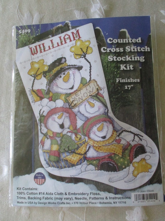 """4/"""" Design Works Crafts Welcome Winter Cross Stitch Ornament Kit"""