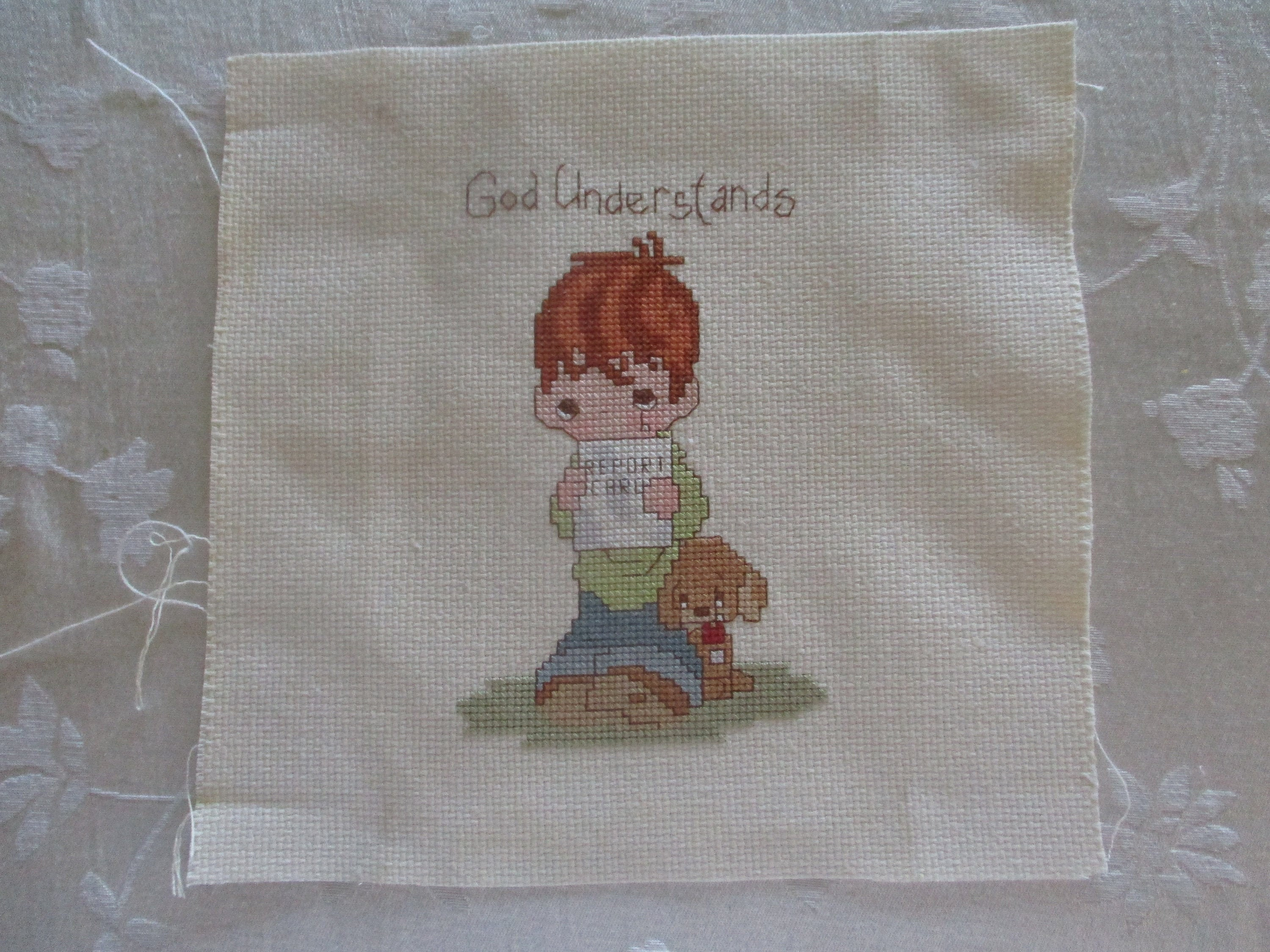 Counted Cross Stitch Pattern Peanuts Lucy the Psychiatrist Free US Shipping