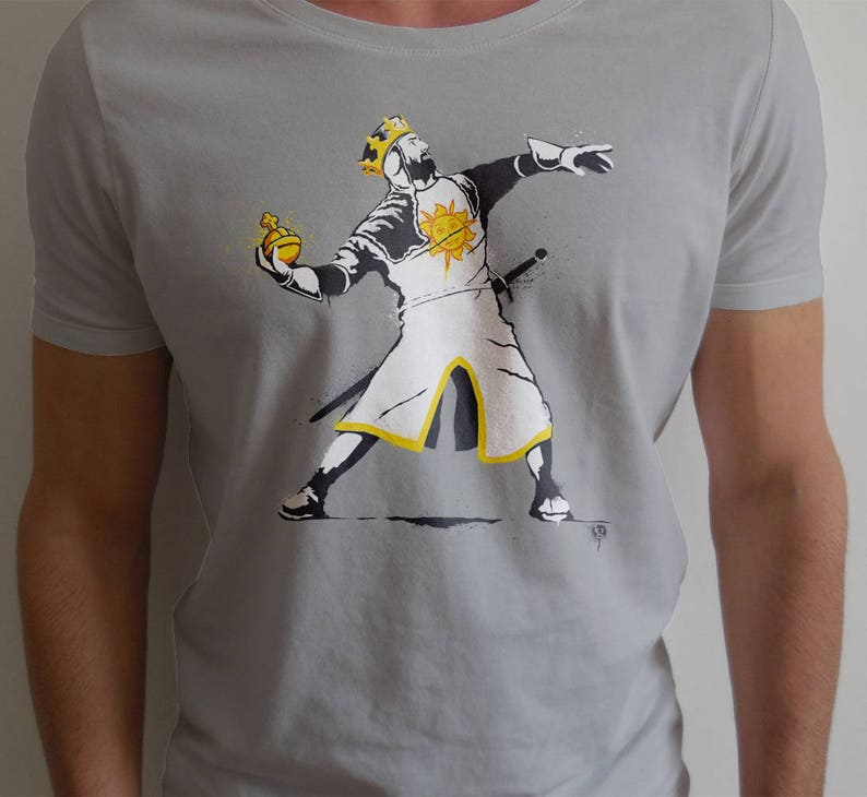 Banksy Python 1-2-5 - Funny Shirt Stencil Graffiti Street Art Banksy Style  ft  Monty King Arthur and the Holy Hand Grenade